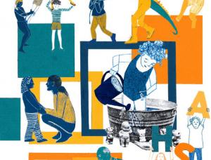 Detalhe da capa da publicação sobre protagonismo na educação e a potência da comunidade escolar