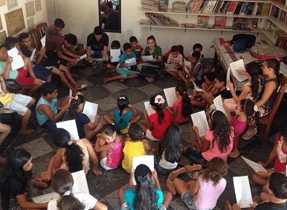 Oficina de Leitura do projeto Esperança e Vida na Amazônia