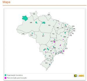 Mapa da Inovação e Criatividade na Educação Básica, do MEC. Créditos: divulgação